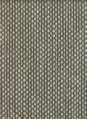 10.5 yds Nobilis Upholstery Fabric Grain De Cafe Textured Stripe Smoke Grey DA5