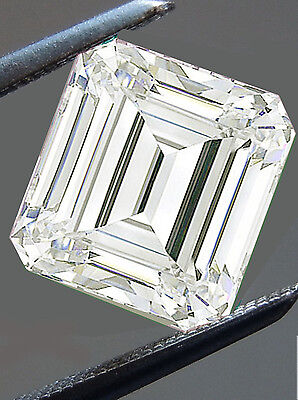 1.23ct VvS1/6.48 MM GENUINE I-J WHITE EMEREALD COLOR LOOSE MOISSANITE 4 RING
