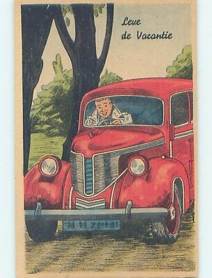 1930's foreign LARGE VIEW OF PRE-WWII EUROPEAN CAR AUTOMOBILE HL9878-34