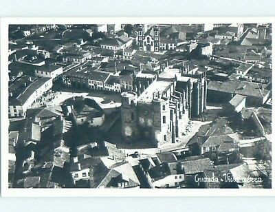 old rppc AERIAL VIEW OF TOWN Guarda - Beira Interior Norte Portugal HM1836