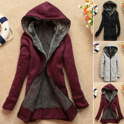 Women's Warm Long Coat Hooded Jacket Slim Winter Parka Outwear Coats Overcoat