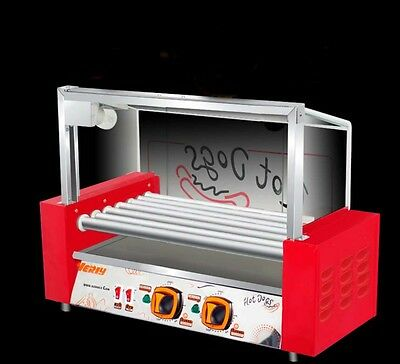 New Commercial 5 Tube Sausage Machine Hotdog Maker Stainless Steel Food Heating*