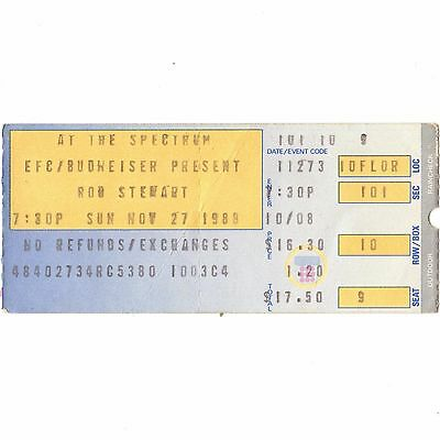 ROD STEWART Concert Ticket Stub PHILADELPHIA PA 11/27/88 OUT OF ORDER THE FACES