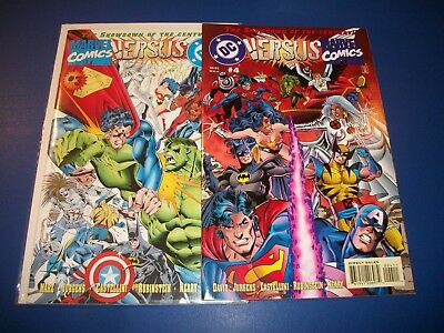 Marvel vs DC #3,4 Avengers Hulk Superman Justice League lot of 2 NM-/NM Gem