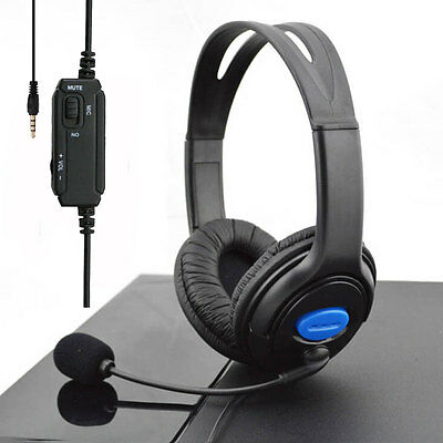 3.5mm Stereo Wired Gaming Headset Headphones with Mic for Sony PS4 Playstation 4