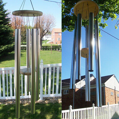 AU Stock Tubes Aluminum Relaxing Chapel Church Wind Chimes Outdoor Garden 90cm
