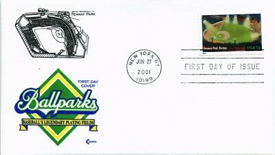 Dr Jim Stamps Us Fenway Park Boston Baseball Playing Field Fdc 2001 Cachet Craft