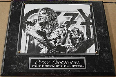 #1 FAN OZZY OSBOURNE FRAMED 8 x 10 PHOTO 12 X 15 WALL PLAQUE DISPLAY album cd