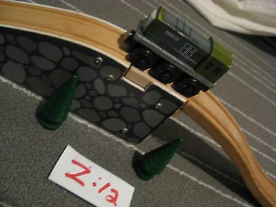 Bridge Ascending Track - Wooden ,Train Dodge  trees Thomas Brio Fits Many