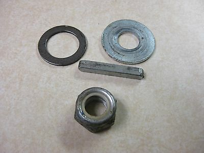 Pride Mobility Rally 3 & 4 Scooter Rear Wheel Nut, Washers and Axle Key