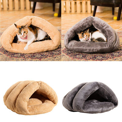 Plush Pet Dog Cat Puppy Cave Bed Sleeping Cushion Mat Winter Warm House Kennel
