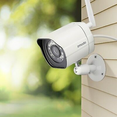 Zmodo 1/2/4 Wireless Smart IP Network Outdoor Home Security Camera Night Vision