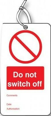 Tag Do Not Switch Off RP Pack of 10 53420