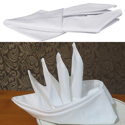 43*43 cm  White Cotton Hotels Dinner Party Room Towel With High Quality New#