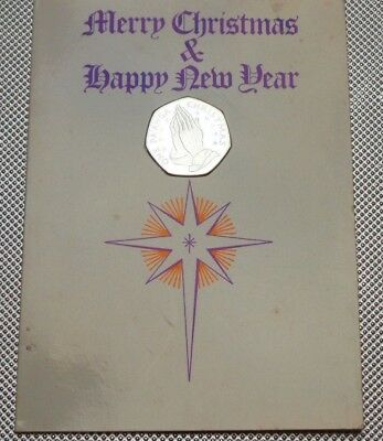 1982 Silver One Pa'anga Tonga Praying Hands Christmas Coin With Card