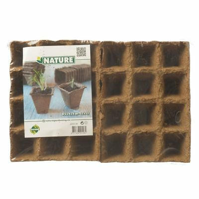 Maceta de Turba Biodegradable 144 Unidades 4x4x5 cm Jardineras Nature 6020128