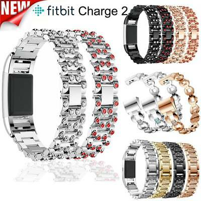 New Metal Stainless Steel Watchband Replacement Strap For Fitbit Charge 2 UK