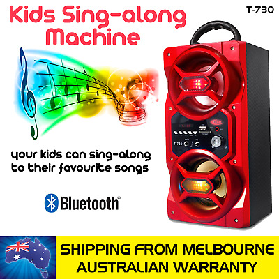 Red Kids Sing-Along Portable Speaker With 2 Microphones