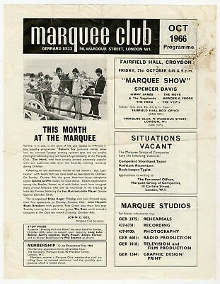 John Mayall 1966 Marquee Club London UK Promo Handbill The Move Alexis Korner