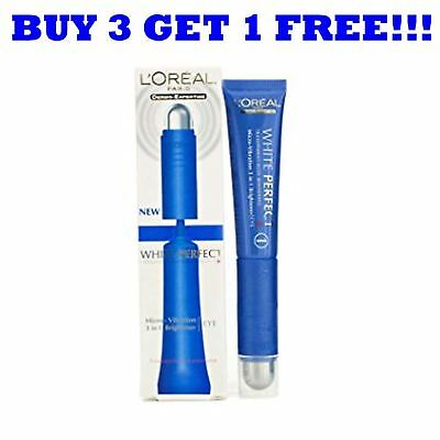 L'Oreal White Perfect Eye Brightener 3In1 Roll On Micro Vibration 15ml