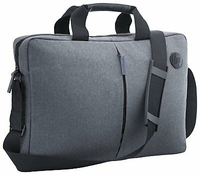 "Brand New HP Top Load Laptop Bag 15.6"" Water Resistant Fabric Case Grey"