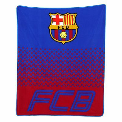 Fc Barcelona Fade Fleece Blanket Childrens Official Free P+P New