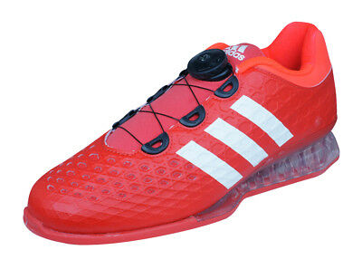 adidas Leistung 16 Mens Weightlifting Shoes / Gym Trainers - Red