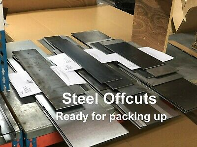 CLEARANCE Mild Steel SHEET Plate OFFCUTS Offcuts Factory Guillotine Cut MIXED
