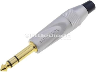 TS3PN-AU Plug Jack 635mm male stereo straight for cable soldering x1 pieces
