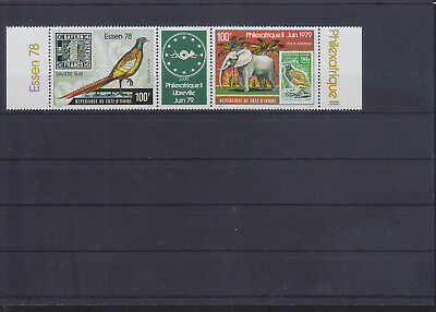 054997 Vögel Birds ... Cote D`Ivoire 571-72 ** MNH Year 1978