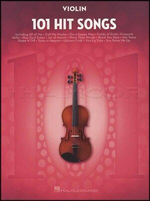 101 Hit Songs for Violin Sheet Music Book Snow Patrol Katy Perry Lady Gaga