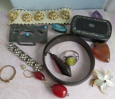 Mixed Lot ANTIQUE  Costume Jewellery -wear /resell/craft