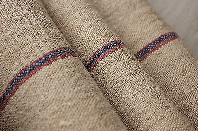 Grainsack grain sack fabric linen hemp organic bolt red pink blue stripe washed
