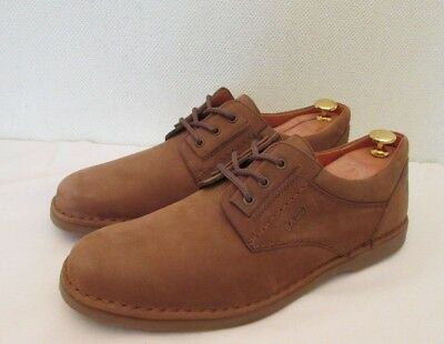 Authentic Bally Men's Light Brown Leather Lace Up Soft Comfort Shoes UK 10 EU 45