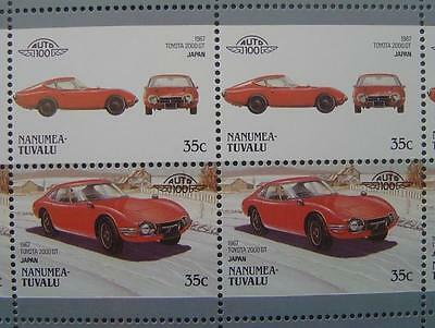 1967 TOYOTA 2000GT / 2000-GT Car 50-Stamp Sheet / Auto 100 Leaders of the World