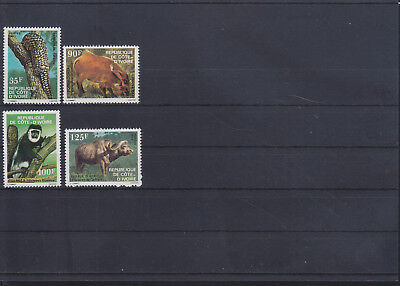 055004 Rotwild Red Deer ... Cote D`Ivoire 767-70 ** MNH Year 1983