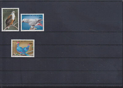 055005 Vögel Birds Cote D`Ivoire 783-85 ** MNH Year 1983