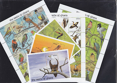 055022 Vögel Birds Ghana 1546-93 + Block 179/81 ** MNH Year 1991