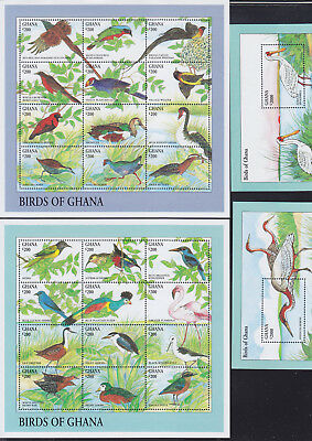 055034 Vögel Birds Ghana 2008-31 + Block 251/52 ** MNH Year 1994