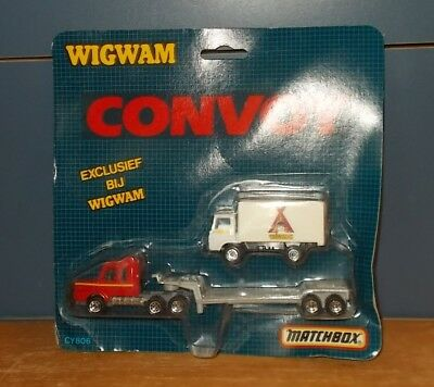 Matchbox Superfast Convoy CY806 Wigwam Scania & Dodge Box Truck Twin Pack