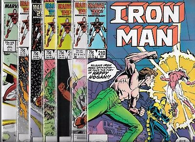 The Invincible Iron Man Lot Of 7 - #210 #211 #213 #214 #215 #216 #217 (Vf/nm)