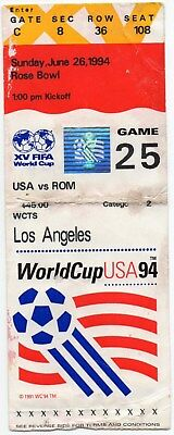 1994 World Cup Usa V Romania Group Game Played On 26/06/1994 At The Rose Bowl