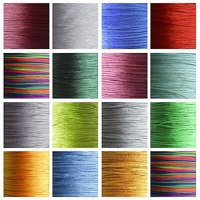 5/10m Silky Satin Rattail KUMIHIMO Braiding Cord 1mm Thickness Macrame Thread