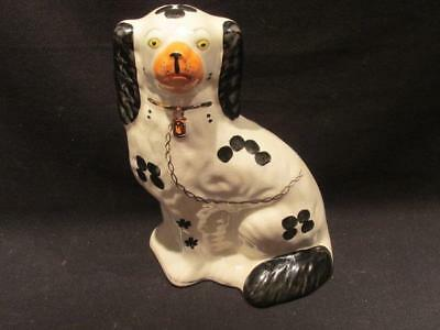 Arthur Wood Vintage Staffordshire Black & White Mantle Dog Figurine