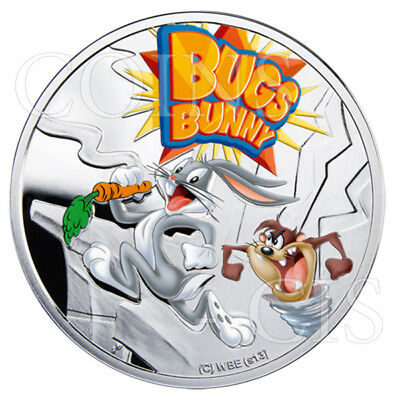 Niue 2013 1$ Cartoon Characters  Bugs Bunny Proof Silver Coin