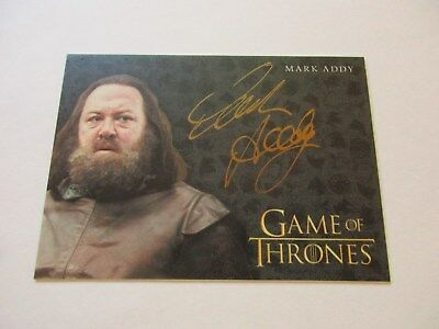 Game of Thrones Valyrian Steel Mark Addy as King Robert Baratheon GOLD Autograph