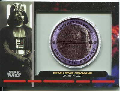 Star Wars Galactic Files Patch Relic Card PR24 Darth Vader