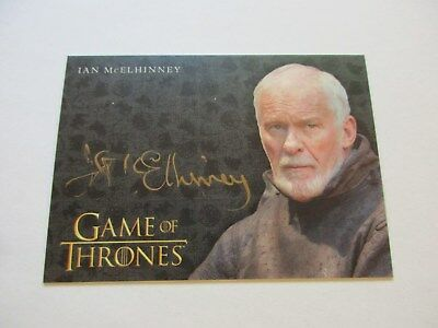 Game of Thrones Valyrian Steel Ian McEIhinney as Barristan Selmy GOLD Autograph