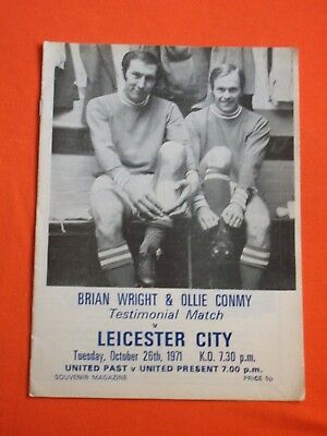 Peterborough v Leicester City,  Brian Wright & Ollie Conmy Testimonial  Oct 1971