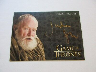 Game of Thrones Valyrian Steel Julian Glover as Maester Pycelle GOLD Autograph